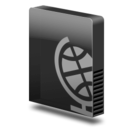 128x128px size png icon of Drive slim webdav
