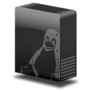 128x128px size png icon of Drive system tux