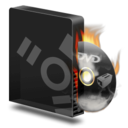 128x128px size png icon of Dvd burner firewire burning