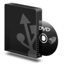 128x128px size png icon of Dvd burner usb