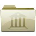 128x128px size png icon of Library Tan