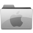128x128px size png icon of applegeneric Grey