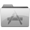 128x128px size png icon of apps Grey