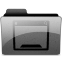 128x128px size png icon of desktop Charcoal