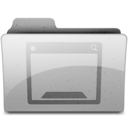 128x128px size png icon of desktop Grey