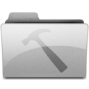 128x128px size png icon of developer Grey