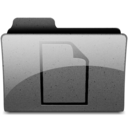128x128px size png icon of documents Charcoal
