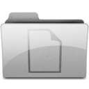 128x128px size png icon of documents Grey