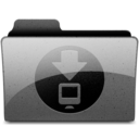 128x128px size png icon of downloads Charcoal