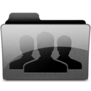 128x128px size png icon of group Charcoal