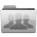 128x128px size png icon of group Grey