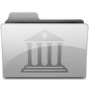 128x128px size png icon of library Grey