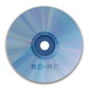 128x128px size png icon of Drive BD RE