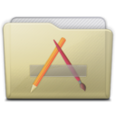 beige folder apps Icon
