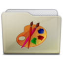 beige folder art Icon