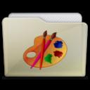 128x128px size png icon of beige folder art