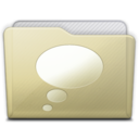 128x128px size png icon of beige folder chats