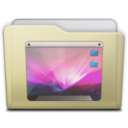 beige folder desktop Icon