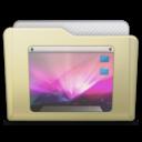 128x128px size png icon of beige folder desktop