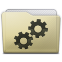 128x128px size png icon of beige folder developer