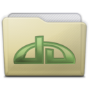 beige folder deviations Icon