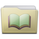 128x128px size png icon of beige folder library alt