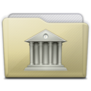 128x128px size png icon of beige folder library