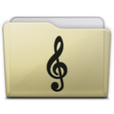 128x128px size png icon of beige folder music alt
