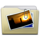 128x128px size png icon of beige folder pictures alt