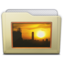 128x128px size png icon of beige folder pictures