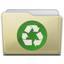 128x128px size png icon of beige folder recycle