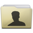 128x128px size png icon of beige folder user