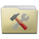 128x128px size png icon of beige folder utilities