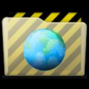 128x128px size png icon of beige folder webdev