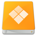 128x128px size png icon of drive external windows