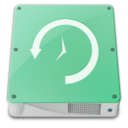 128x128px size png icon of drive timemachine