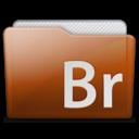 128x128px size png icon of folder adobe bridge