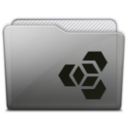 128x128px size png icon of folder adobe extension manager