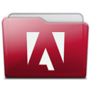 128x128px size png icon of folder adobe