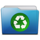128x128px size png icon of folder recycle