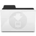 128x128px size png icon of DownloadsFolder Y