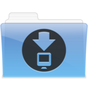 128x128px size png icon of AQUA Downloads 1