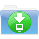 128x128px size png icon of AQUA Downloads 2
