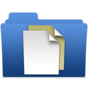smooth navy blue documents 2 Icon