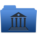 128x128px size png icon of smooth navy blue library 1