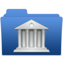 smooth navy blue library 2 Icon