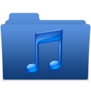 128x128px size png icon of smooth navy blue music 2