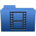 128x128px size png icon of smooth navy blue videos 1