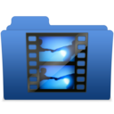 128x128px size png icon of smooth navy blue videos 2