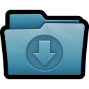 128x128px size png icon of Folder Download